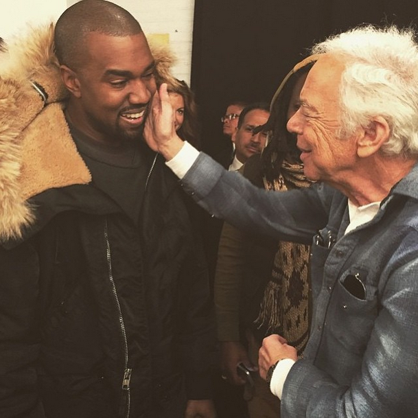 Kanye West meets his idol (Photo: instagram.com/ralphlauren).