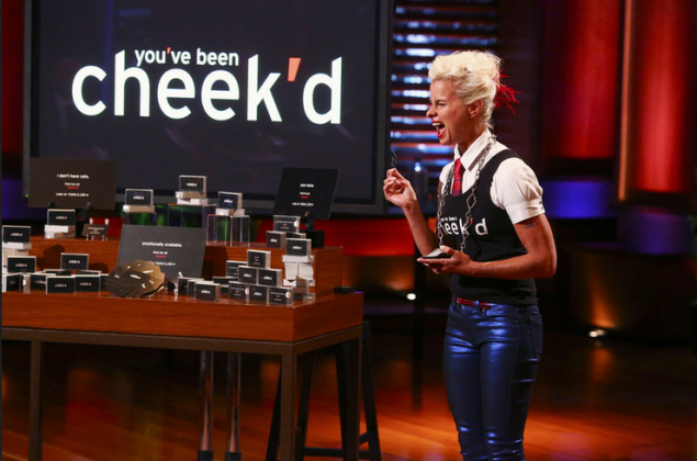 Ms. Cheek said she was incredibly nervous when she pitched her product to the Sharks. (Photo: ABC)