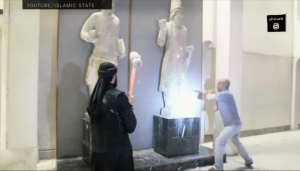 Screen shot of the video released by ISIS today (Photo courtesy YouTube/Islamic State/New York Times).