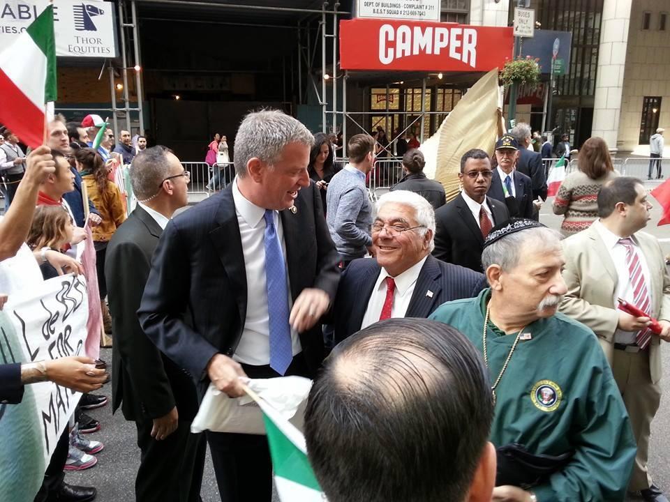 John Solazzo with Mayor Bill de Blasio (Photo: Facebook).