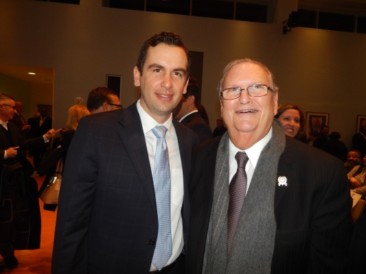 Assemblyman Ralph Caputo (D-28), right, with Jersey City Mayor Steve Fulop.