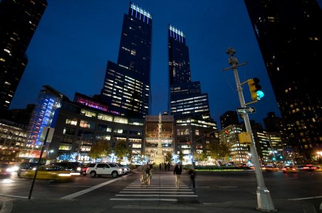 The Time Warner Center.