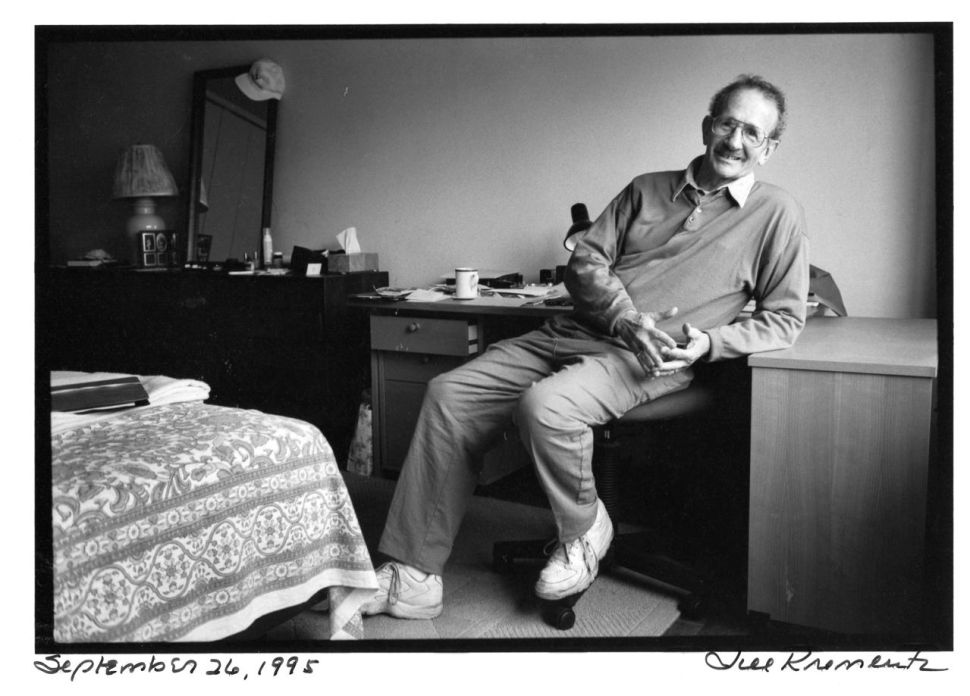 Phillip Levine photographed by Jill Krementz on September 26, 1995, at his apartment in Washington Square Village on September 26, 1995.