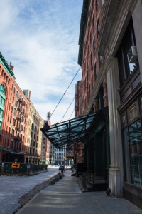 The awning to the Tribeca building where Taylor Swift lives. (Cara Genovese/New York Observer)