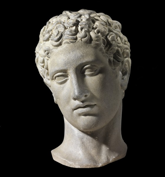 Marble head of a youth, after a Polycletus Greek original of the 5th century BCE, Roman period, 1st century CE. Photo © The Israel Museum, Jerusalem, byElie Posner)