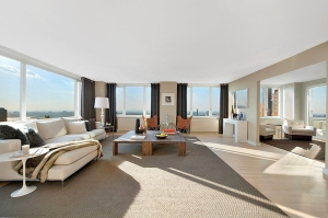 The living room of a condo at the Sheffield.