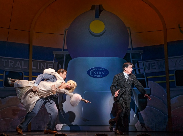 Left to right: Andy Karl, Kristin Chenoweth and Peter Gallagher. (Photo: Joan Marcus)