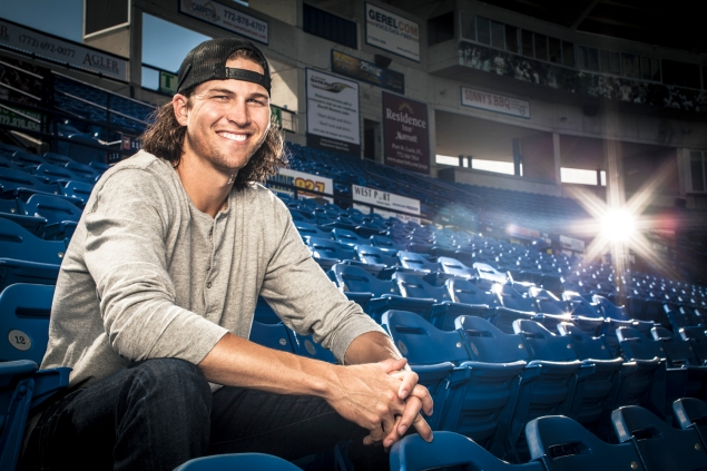 Jacob deGrom at Tradition Field. (Photo: Kate Benson for New York Observer)