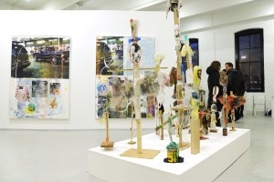 An installation view at the Independent art fair. (Photo courtesy Patrick McMullan)