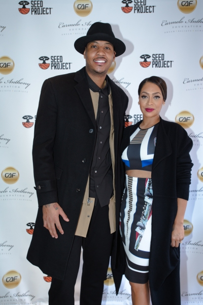 Photo of Carmelo and La La Anthony by  Justin Lewis.