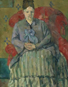 Paul Cézanne, Madame Cézanne in a Red Armchair, 1877 CREDIT: Courtesy of Museum of Fine Arts, Boston)