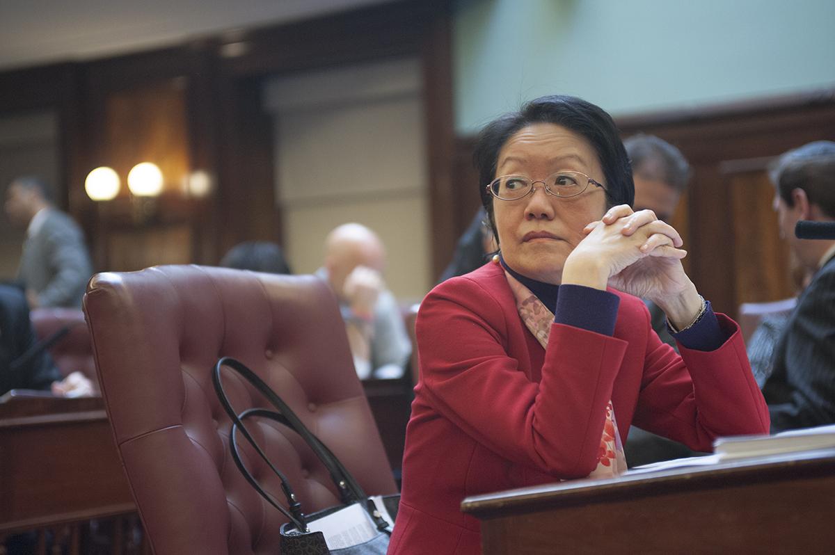 Margaret Chin at a City Council meeting. (Photo: William Alatriste/City Council)