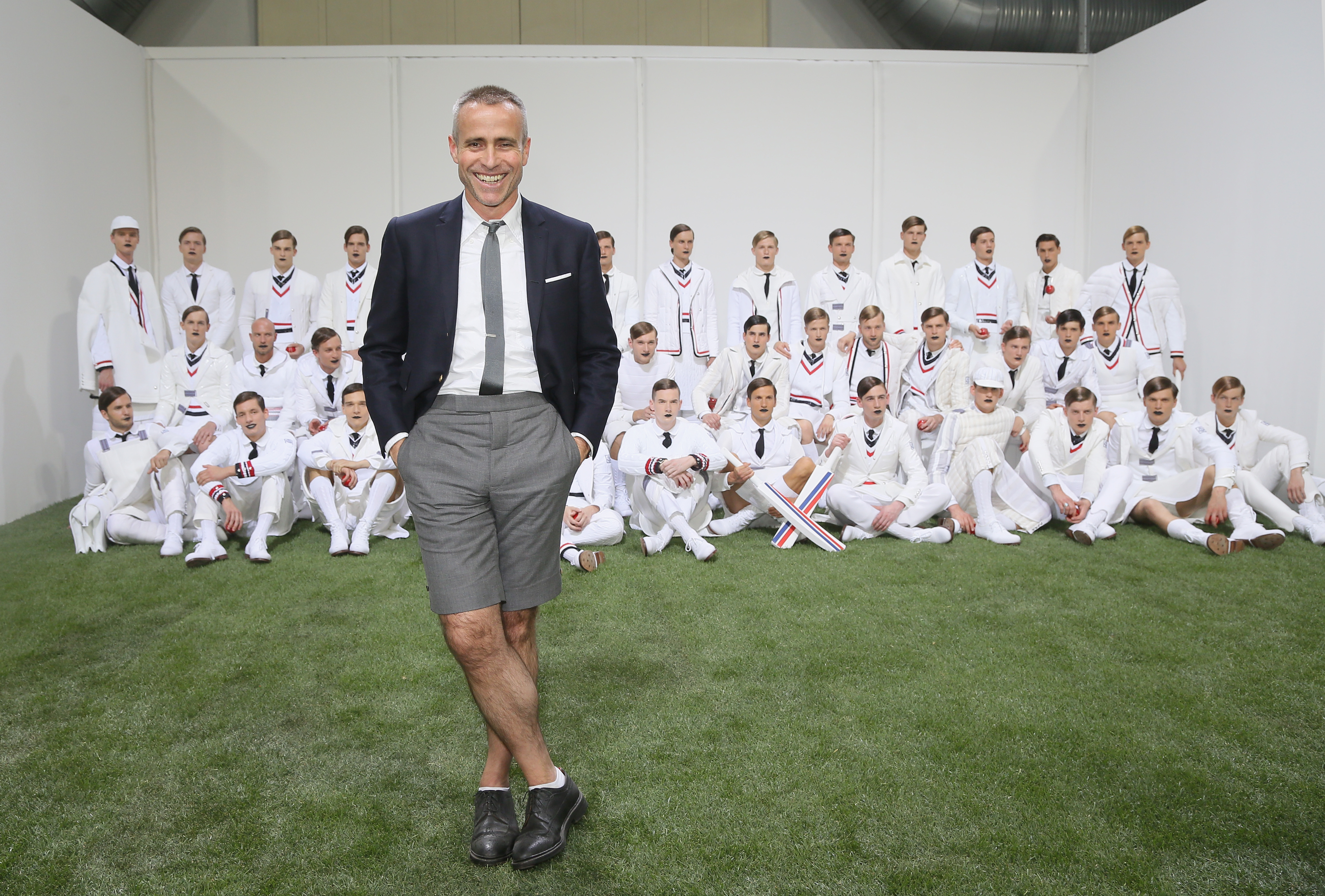Thom Browne after a Moncler Gamme Bleu show last year (Photo: Getty).