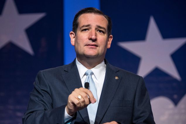 """After denouncing """"New York values"""" at last night's Republican presidential debate, Ted Cruz was heavily criticized on social media. (Photo: Andrew Burton/Getty Images)"""