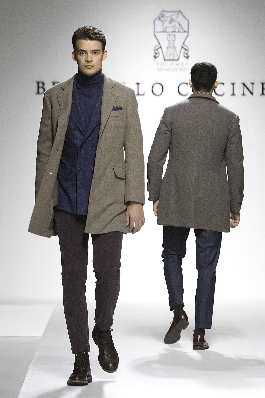 Models walking for Brunello Cucinelli (Photo: Getty).