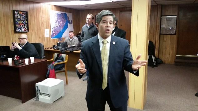 Councilman Vincent Gentle today. (Photo: Ross Barkan/New Yok Observer)