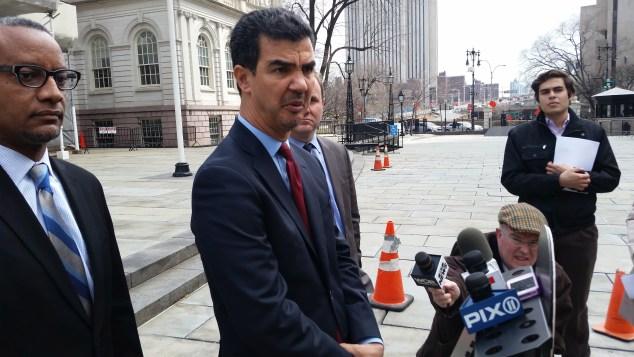 Councilman Ydanis Rodriguez today. (Photo: Ross Barkan/New York Observer)