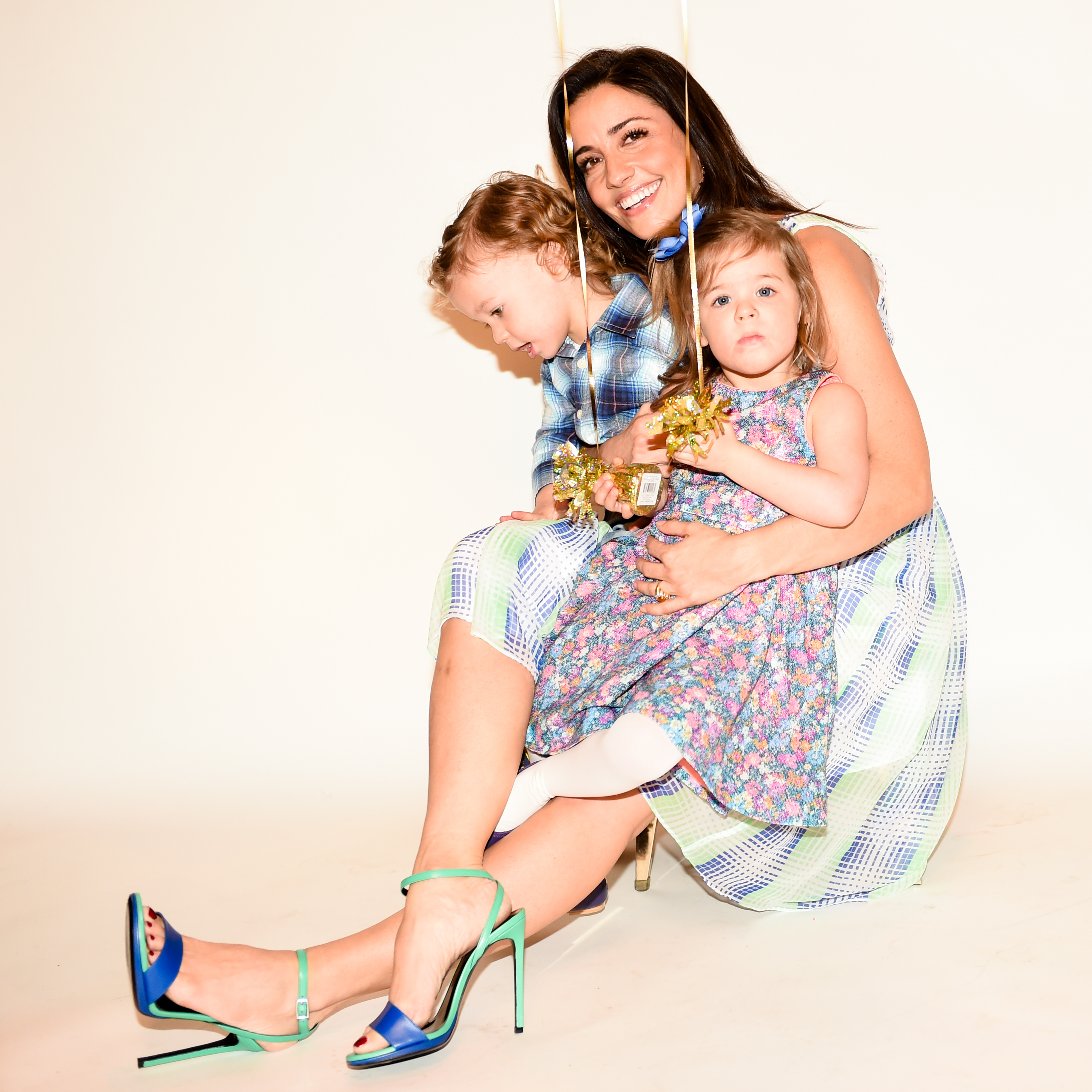 Shoshanna Gruss and her children in the Gucci photo booth at the Bunny Hop (Photo: Patrick McMullan).