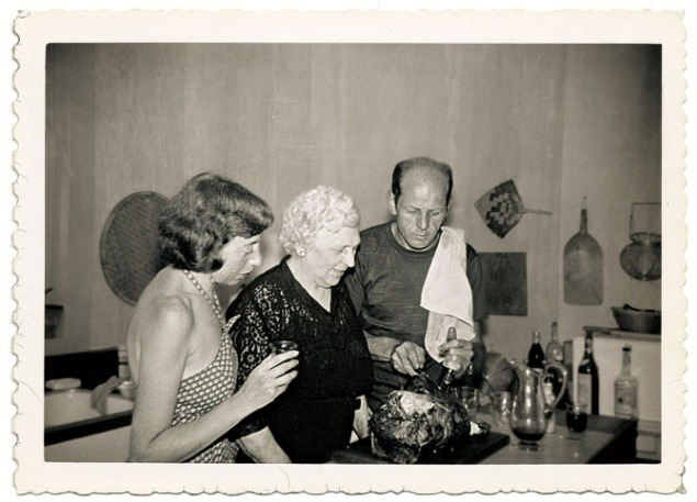 Jackson Pollock in the kitchen. (Photo: Courtesy of the Pollock-Krasner House and Study Center)