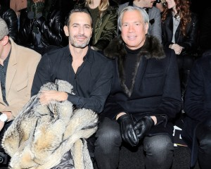 Robert Duffy, right, with Marc Jacobs. (Patrick McMullan)