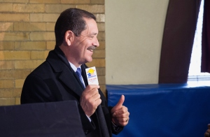 "Jesus ""Chuy"" Garcia forced Rahm Emanuel into a runoff. (Photo by Scott Olson/Getty Images)"