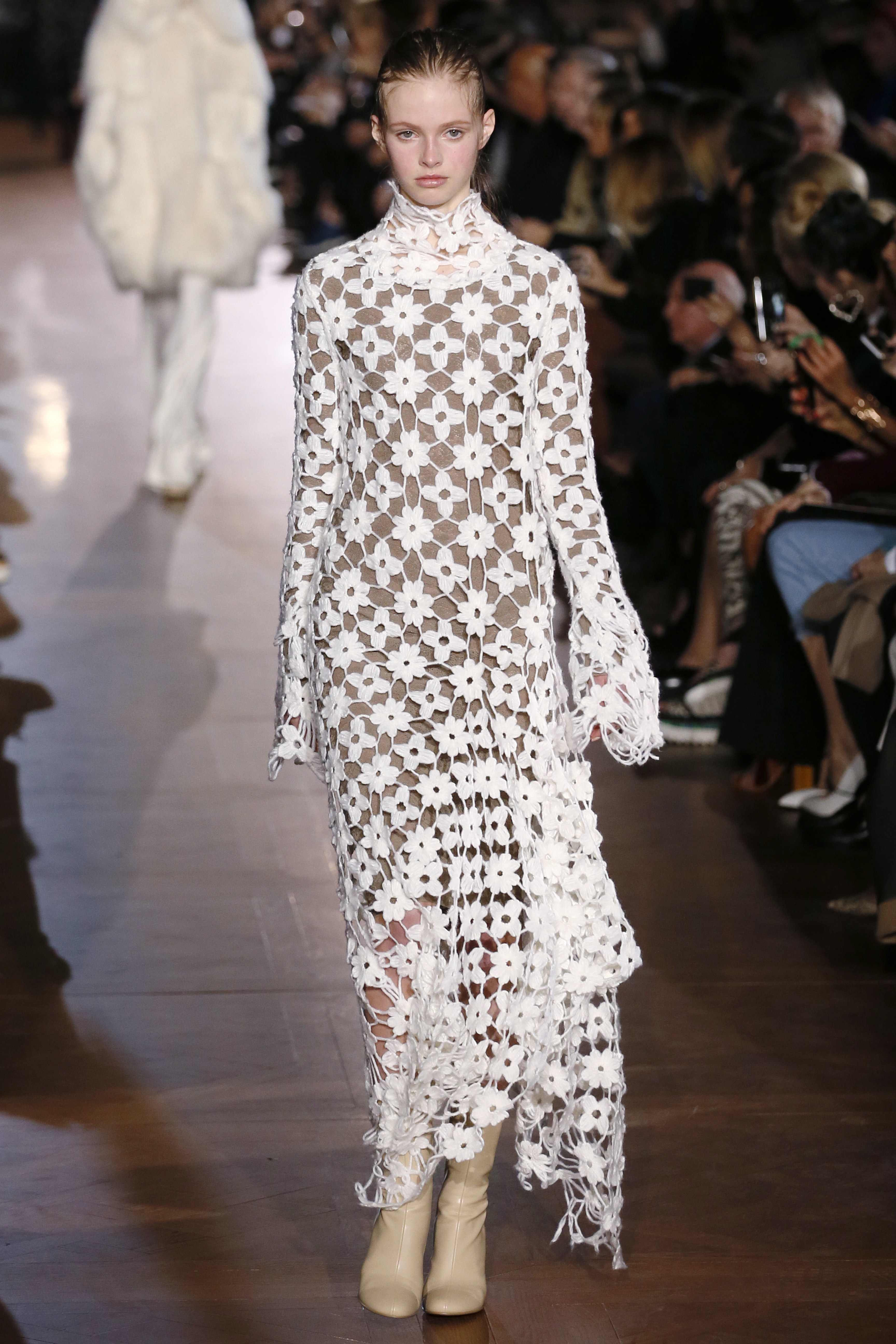 The collection also embraced the '70s trend seen on so many runways this season (Photo: Getty).