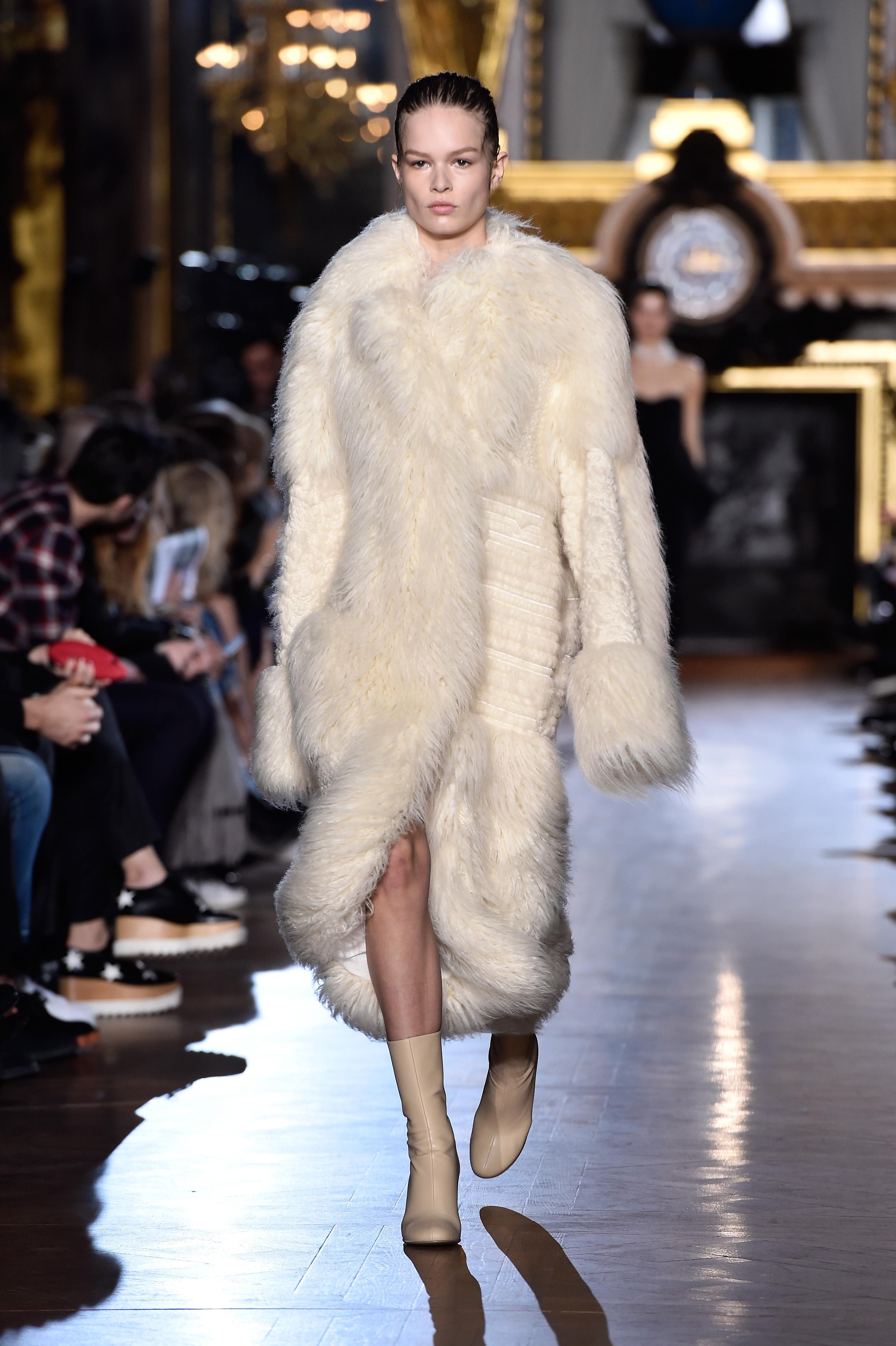Another Stella McCartney faux fur coat (Photo: Getty).