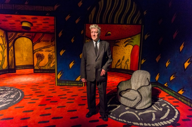 Artist David Lynch at the opening of his exhibition: Between Two Worlds at Gallery of Modern Art (GOMA) on March 13, 2015 in Brisbane, Australia. (Photo by Glenn Hunt/Getty Images)