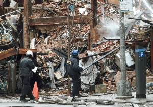 The buildings involved in the East Village blast were involved in a fiery tenant litigation in 2009. (Getty Images)