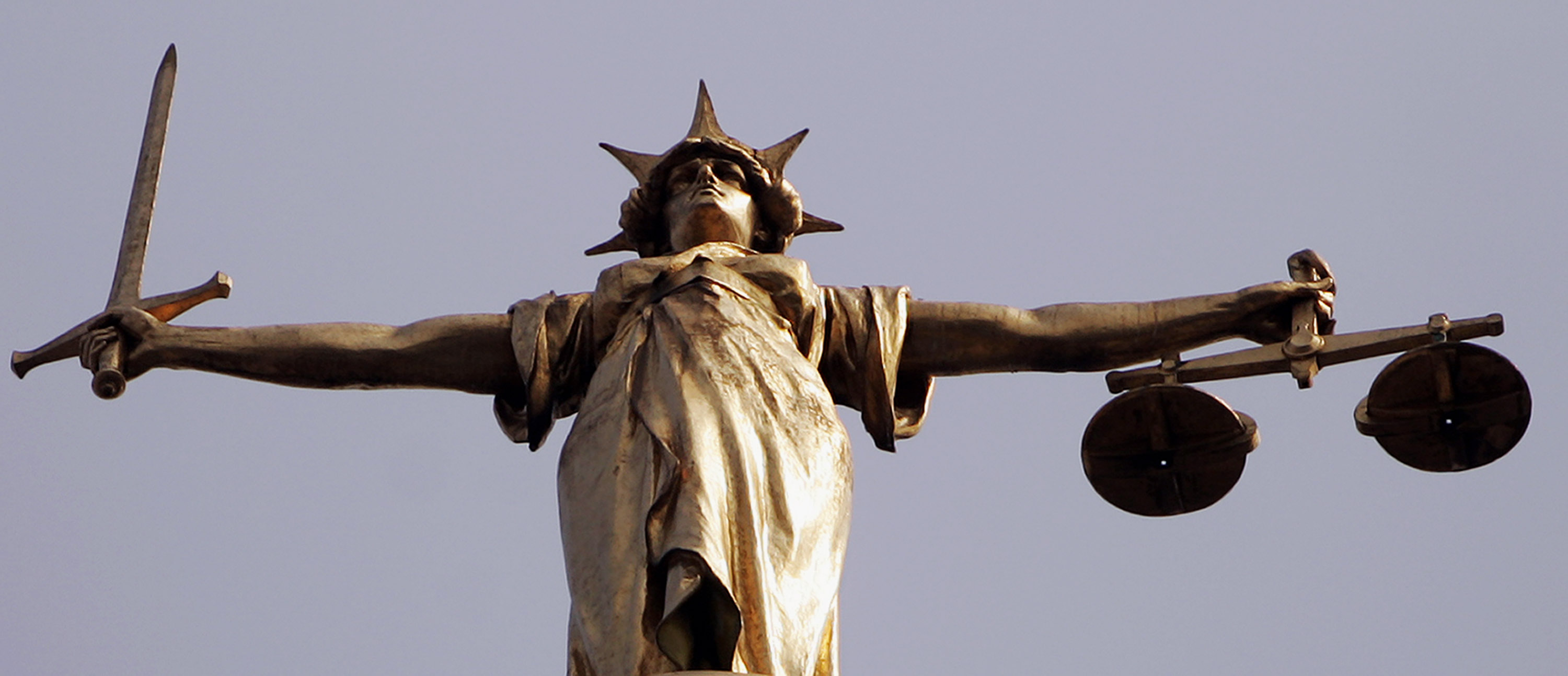 The Scales of Justice, the international symbol of the judicial system  (Photo: Bruno Vincent/Getty Images).
