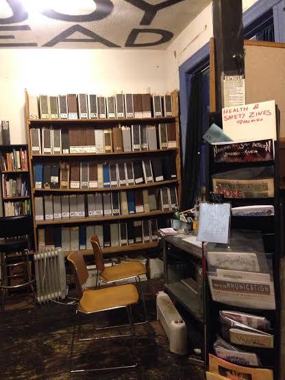 ABC No Rio Zine Library (Photo courtesy of Julia Lipscomb, Zine Library)