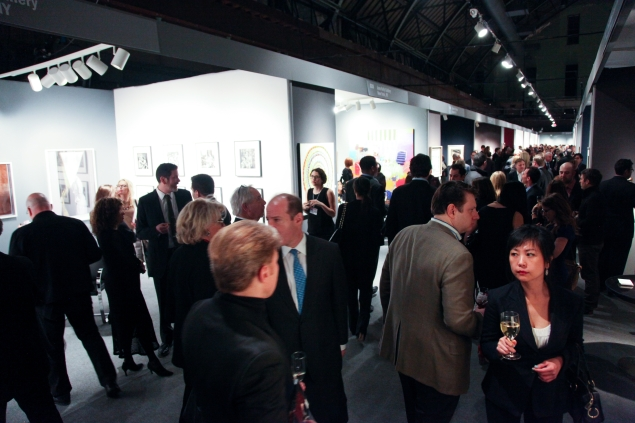 The ADAA's Art Show gala preview in 2014. (Photo: ADAA)