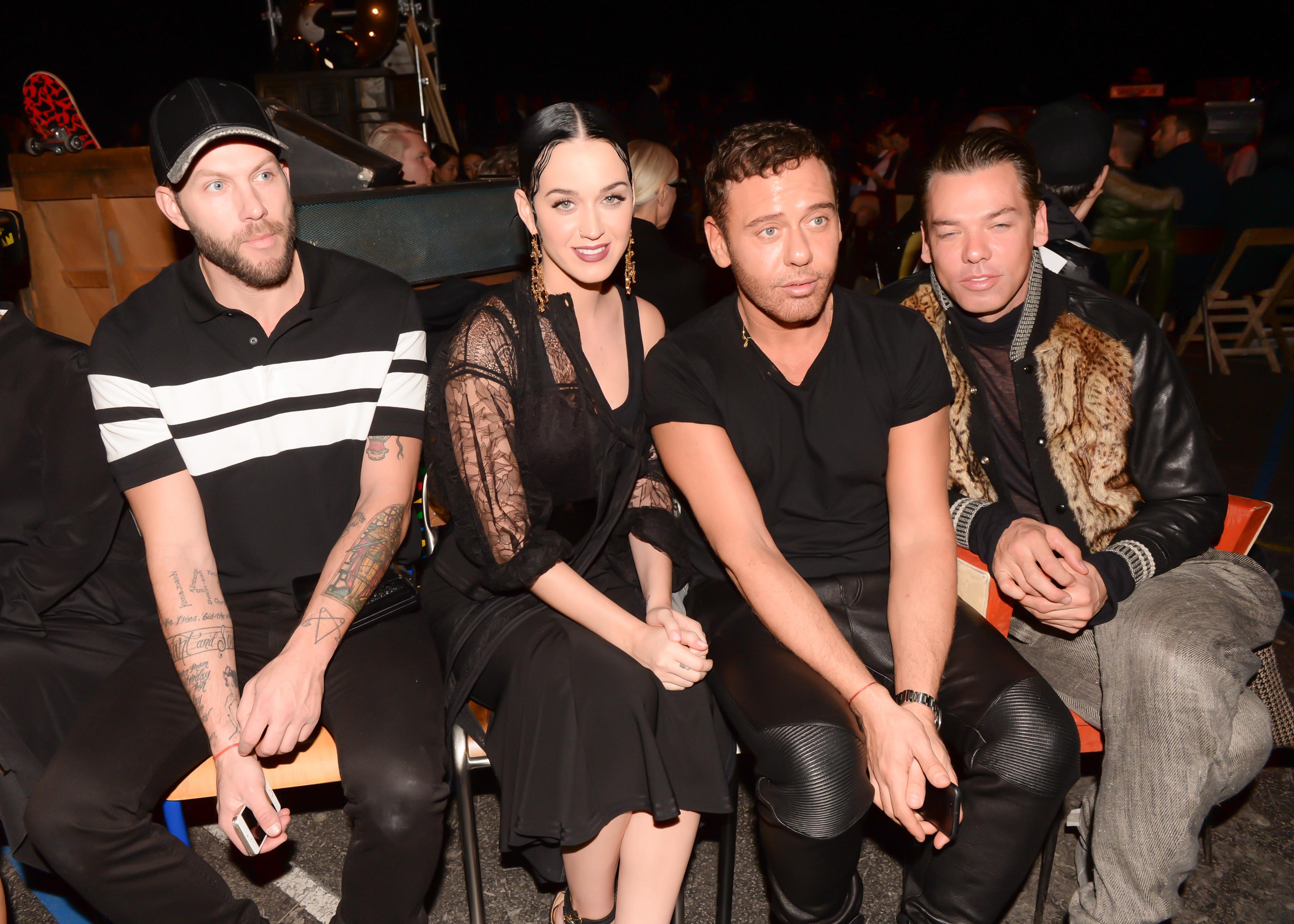 Johnny Wujek, Katy Perry, Mert Alas and Marcus Piggott (Photo: BFA).