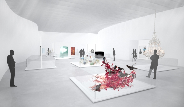 Rendering of the north wing contemporary gallery at the Corning Museum of Glass in Corning, New York. (Photo: Corning Museum of Glass website)
