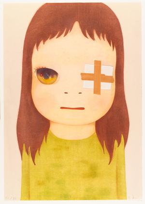 Untitled (Eye Patch), (2012), by Yoshitomo Nara.