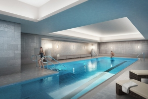 The swimming pool at the Carlton House townhouse.