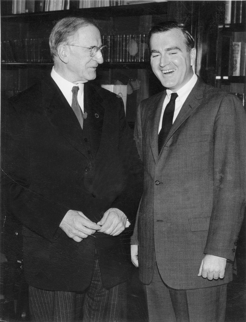 Eamon de Valera. (1882 –1975). One of the dominant political figures in 20th century Ireland. His political career spanned over half a century (1917 to 1973). Served multiple terms as head of government and head of state. Shown (circa 1959) with former US Congressman Neil Gallagher whose term in office (1959-1973) coincided with deValera's term as President of Ireland.
