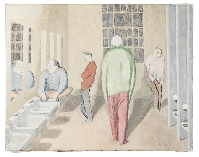 David Byrd, LAVATORY AT NIGHTTIME (042), (1989). (Courtesy of Greg Kucera Gallery, Seattle)