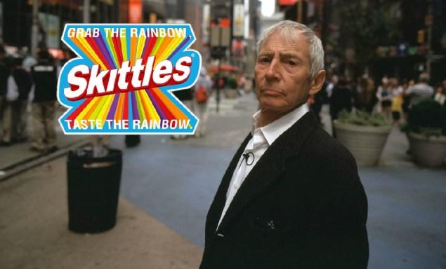 Durst never addressed the Skittles incident at CVS in 2014. (HBO/Skittles)