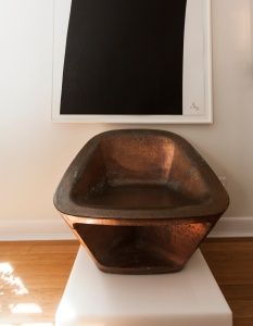 A Richard Serra chair on display in the living room of Alice Roi