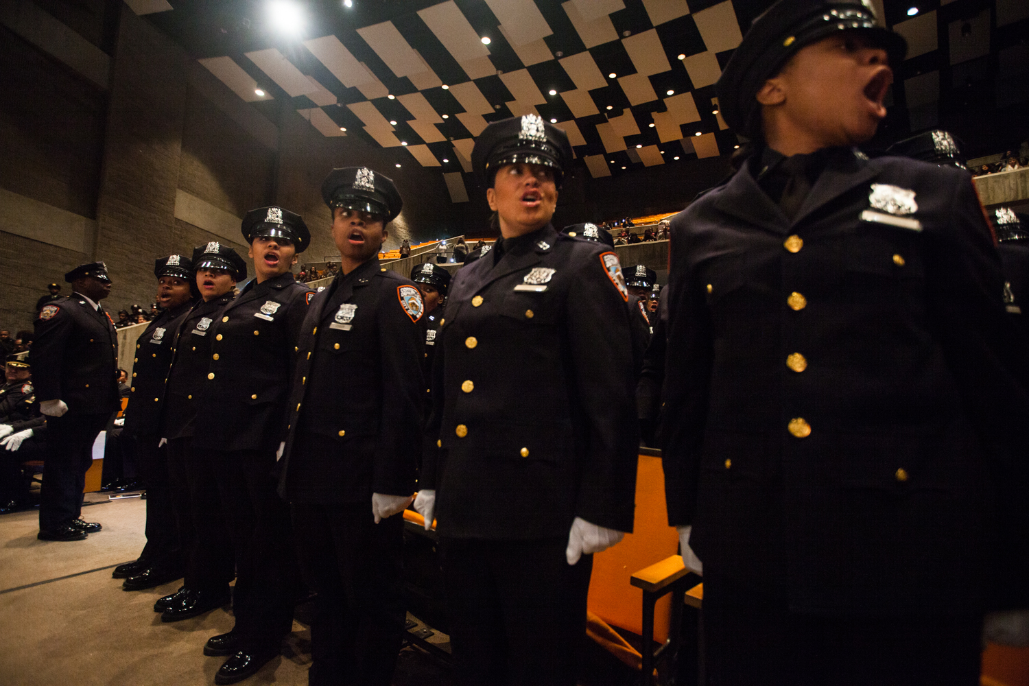 Officer at a graduation ceremony for the New York City Department of Correction. (Emily Assiran/New York Observer)