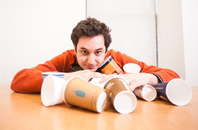 The author, in his cups. (Photo: Emily Assiran)