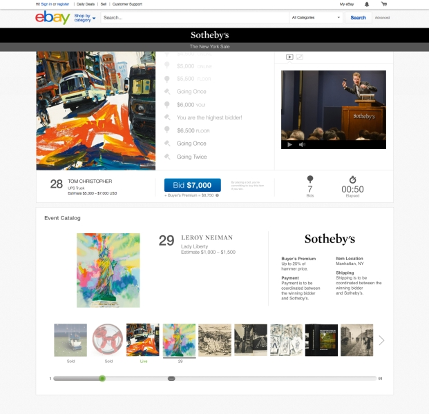 This is what eBay and Sotheby's new site will look like.