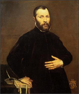 El Greco, Portrait of a Gentleman 1570, oil on canvas.  (Photo courtesy CLAE)