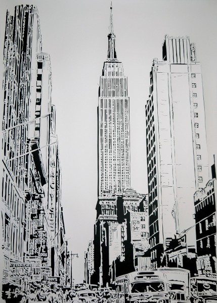 Empire State Building, 1950s, (2015) by Thomas Witte.