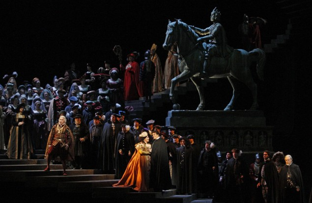 A scene from Verdi's Ernani. (Marty Sohl/Metropolitan Opera)