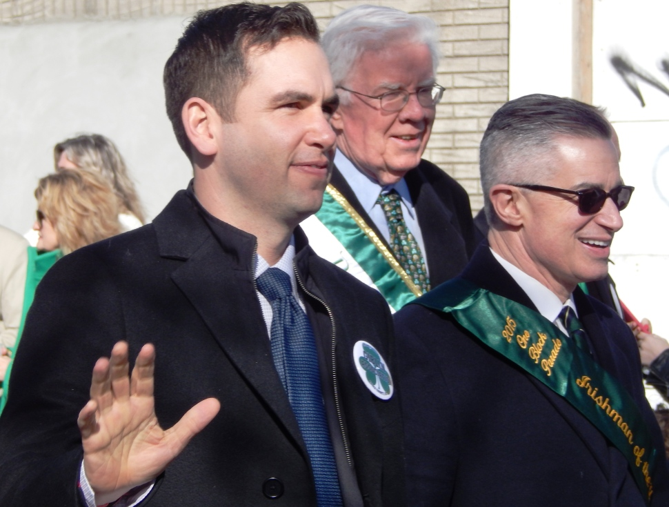 From Left: Jersey City Mayor Steven Fulop, Assemblyman Tom Giblin (D-34), and former Governor James McGreevey.