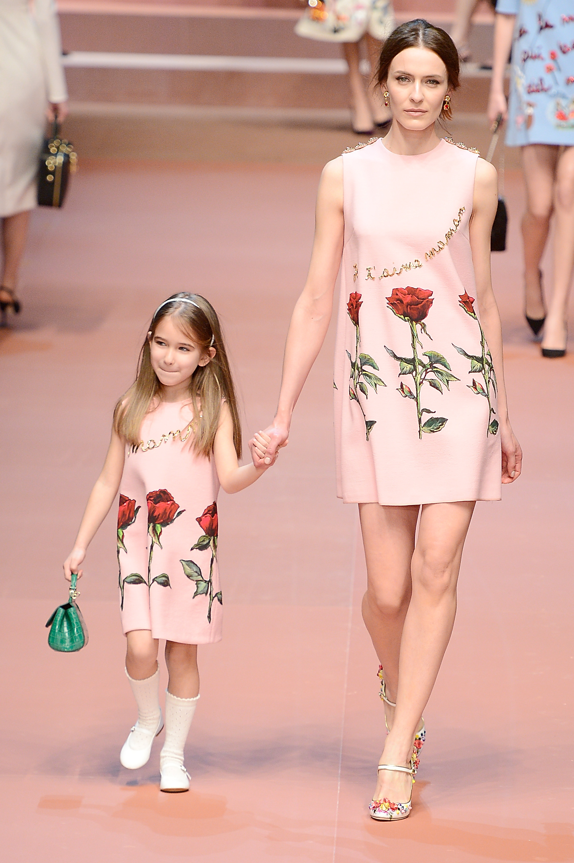 Mommy and me dresses at Dolce & Gabbana (Photo: Getty).