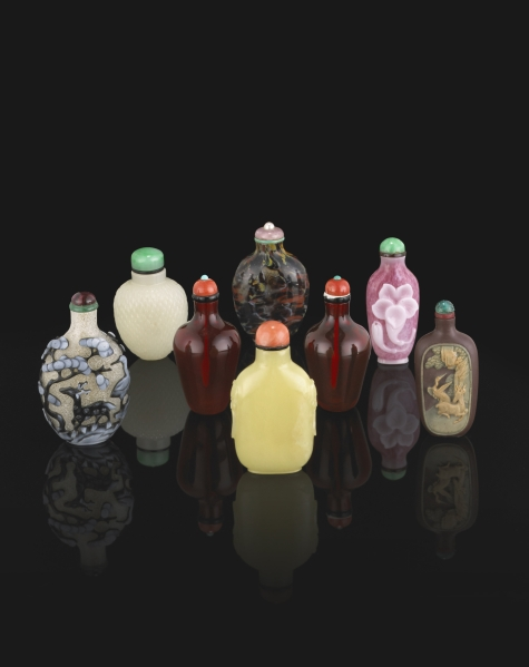 Snuff bottles from the Dicker Collection (Bonham).