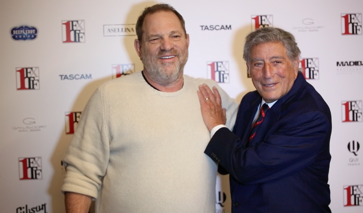 Harvey Weinstein and Tony Bennett pal around on the red carpet (Photo: Patrick McMullan).